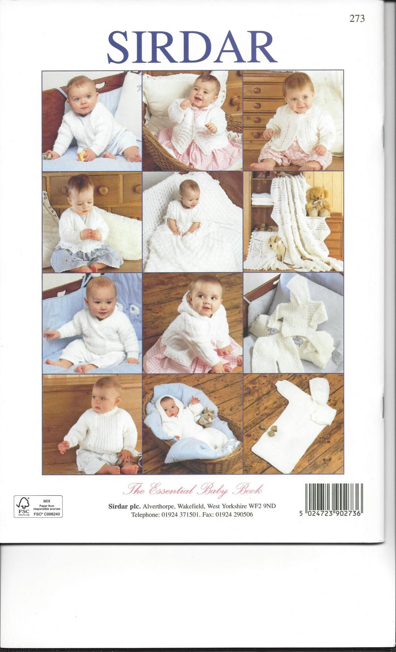 Sirdar Book 273 - The Essential Baby Book - Sirdar Snuggly Double ...